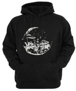 alien on the moon hoodie