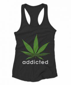 Adidas Addicted Pot Marijuana Humourous Women's Racerback Tank Top DAP