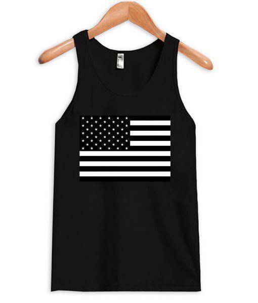 American Flag B&W Tanktop DAP