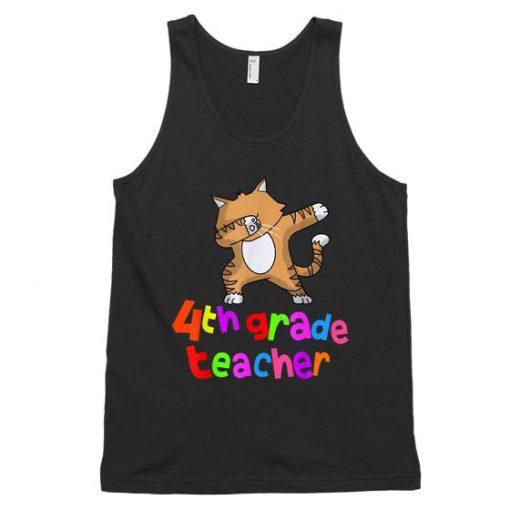 Back To School 4Th Grade Teacher Dabbing Cat Dab Unisex Tank Top DAP